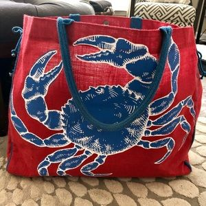 "Handbags - Mud Pie Beach Tote 22x18"""